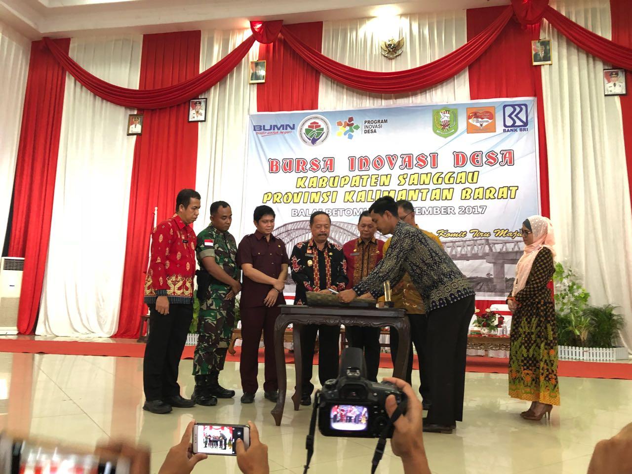 DPMPEMDES Kabupaten Sanggau Perdana Gelar Bursa Inovasi Desa