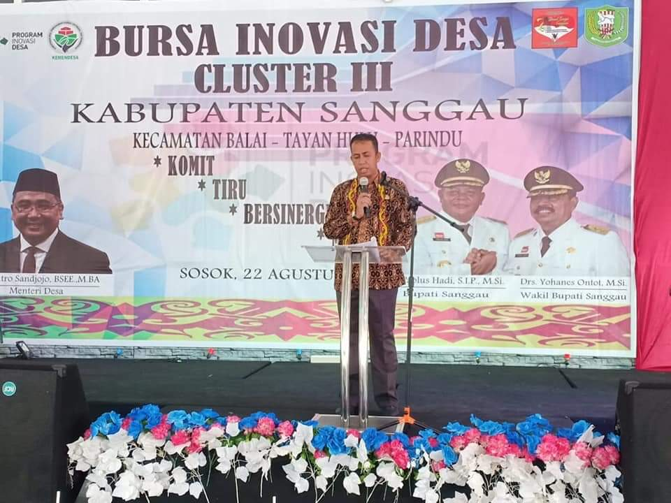 """Bursa Inovasi Desa Cluster III, dengan Motto: Komit, Tiru, Bersinergi dan Mandiri"""""""