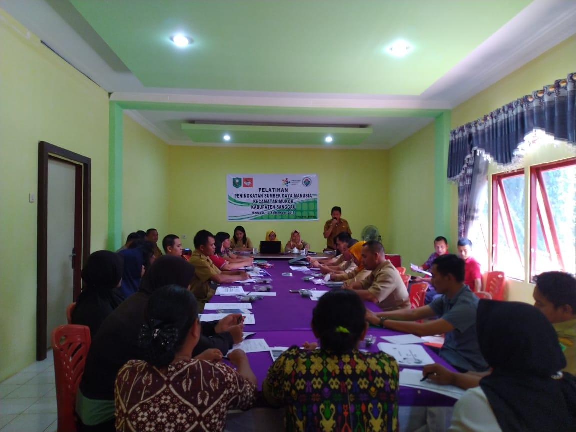 Pelatihan Peningkatan SDM Kecamatan Mukok