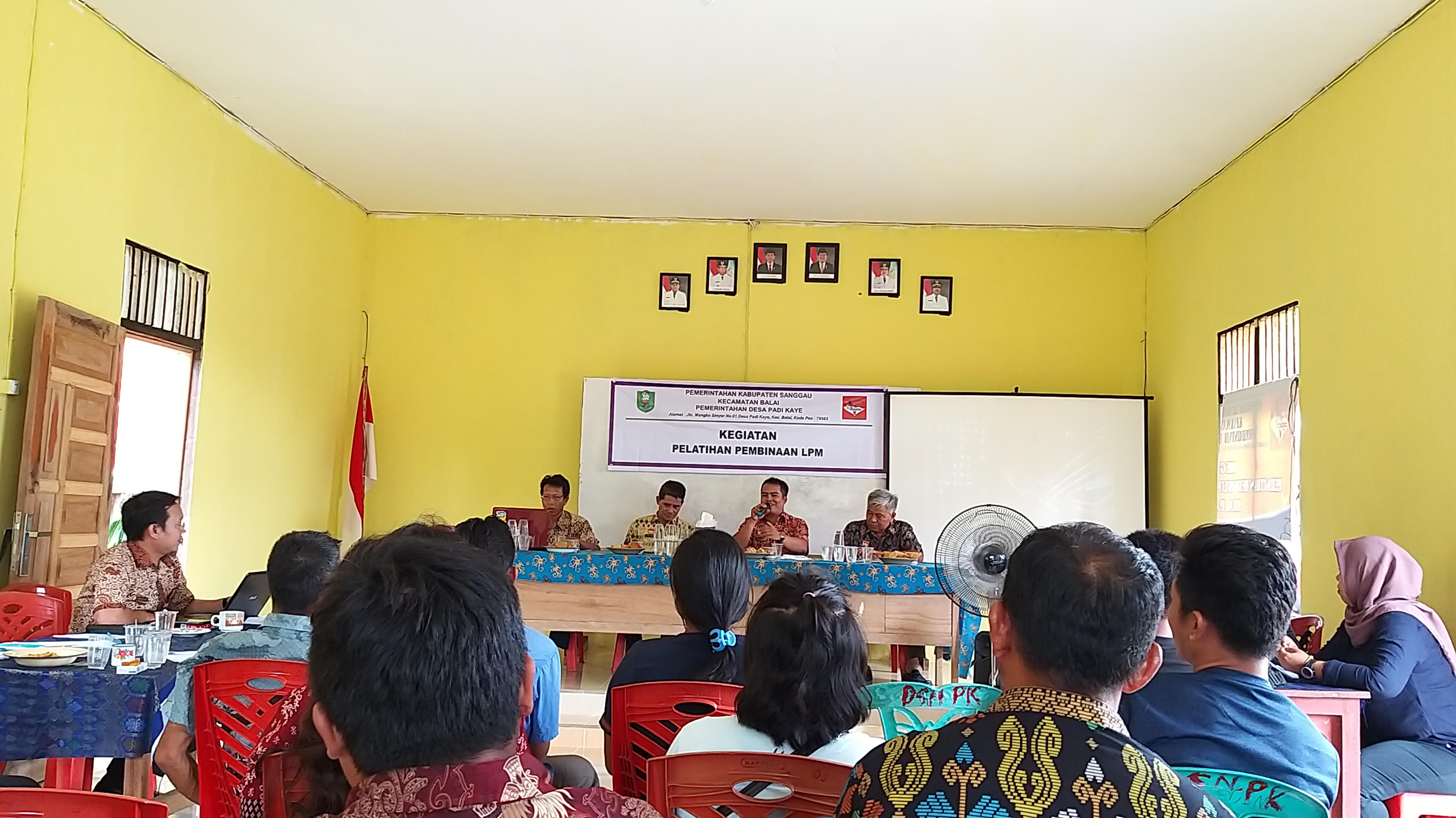 Pelatihan dan Pembinaan LPM Desa Padi Kaye Kec. Balai