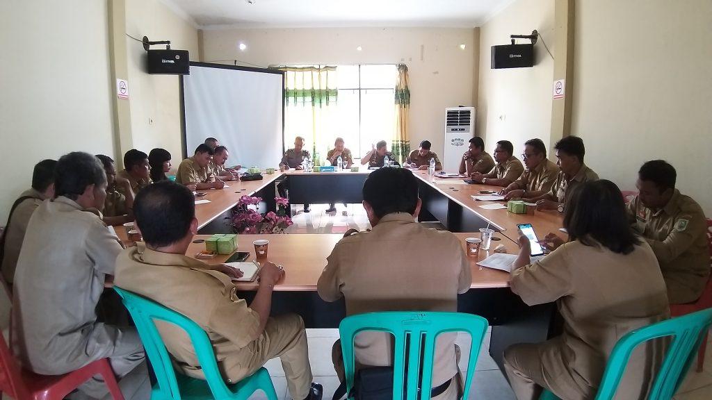 Rapat Persiapan Pelaksanaan Uji Kompetensi Balon Kades di 20 Desa dari 72 Desa
