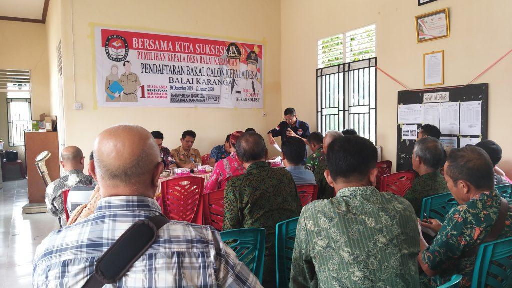 Rakoor Pelaksanaan Pilkades Desa Balai Karangan, Plt. Kepala DPM Pemdes: Mari Kita Sukseskan Pilkades Serentak Tahun 2020