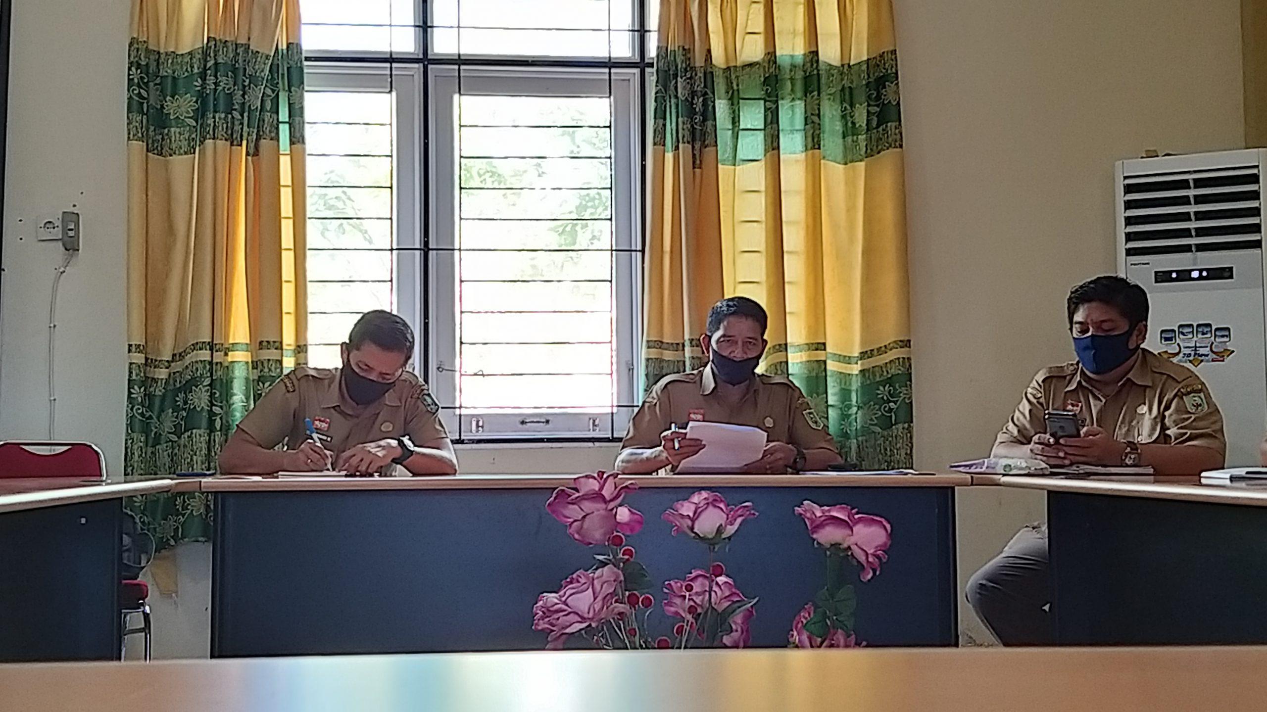 Rapat Internal DPM Pemdes Kab. Sanggau Dalam Upaya Menyikapi New Normal Covid 19