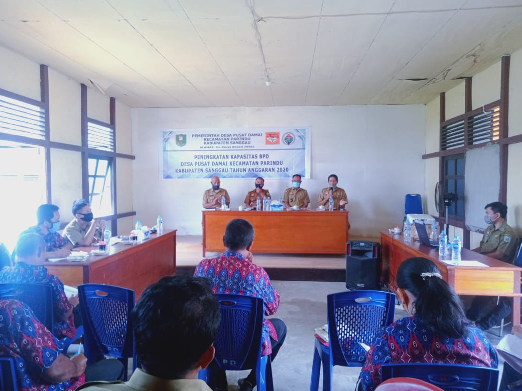 Peningkatan Kapasitas BPD Desa Pusat Damai Kecamatan Parindu