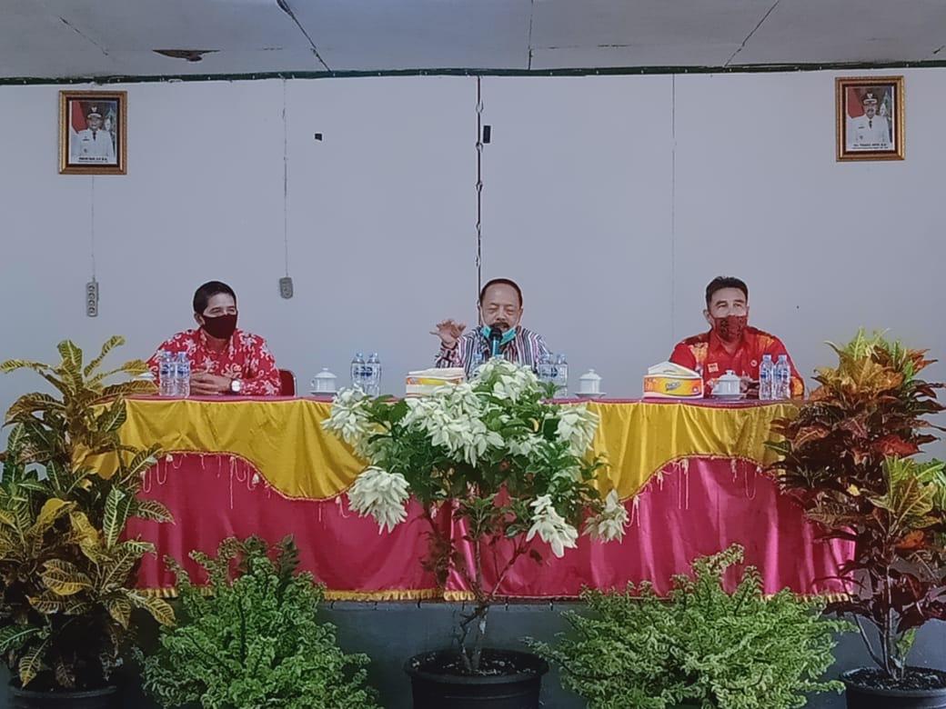 Hadiri Rekonsiliasi Sisa Dana Desa Tahun Tahun Anggaran 2015- 2019 Wakil Bupati Sanggau, Yohanes Ontot : Bekerja Dengan Sungguh - Sungguh Ikuti Aturan Yang Ada