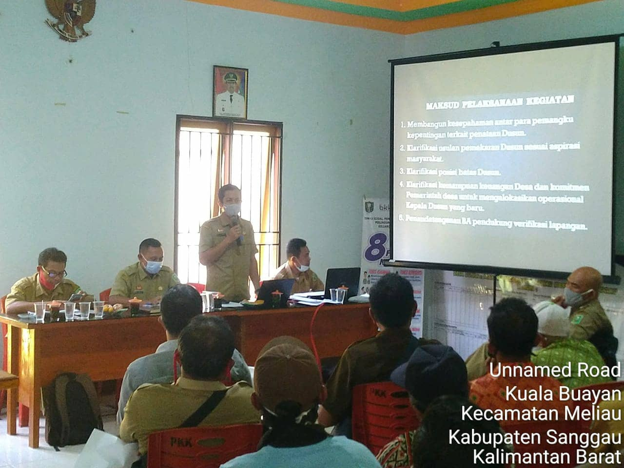 DPM Pemdes Kabupaten Sanggau Melakukan Verifikasi Lapangan Usulan Pemekaran Dusun 5 Desa di Kecamatan Meliau