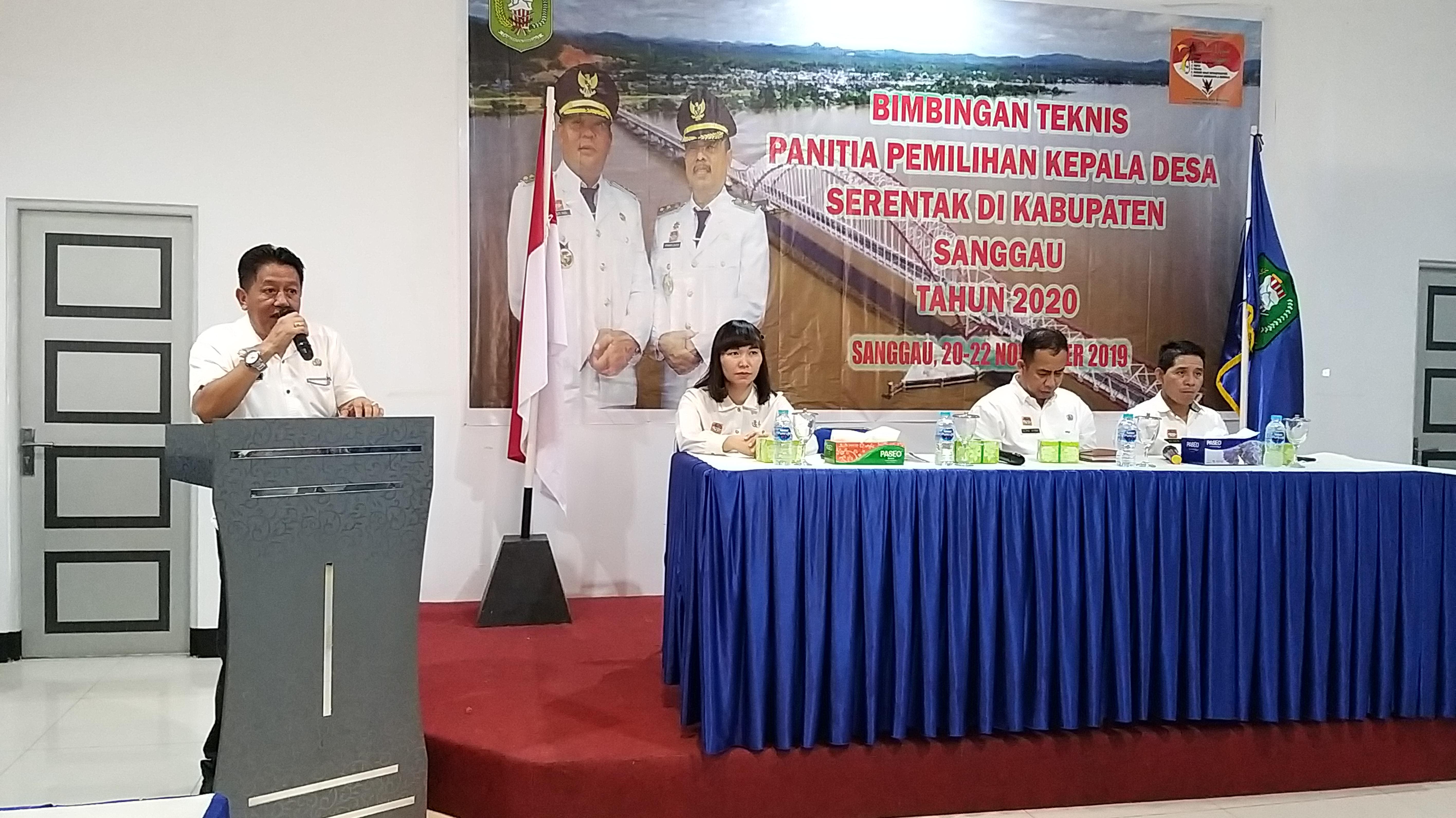 Bimtek Panitia Pilkades Serentak di Kab. Sanggau Tahun 2020
